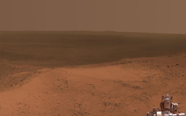 High Viewpoint for 11-Year-Old Rover Mission on Mars