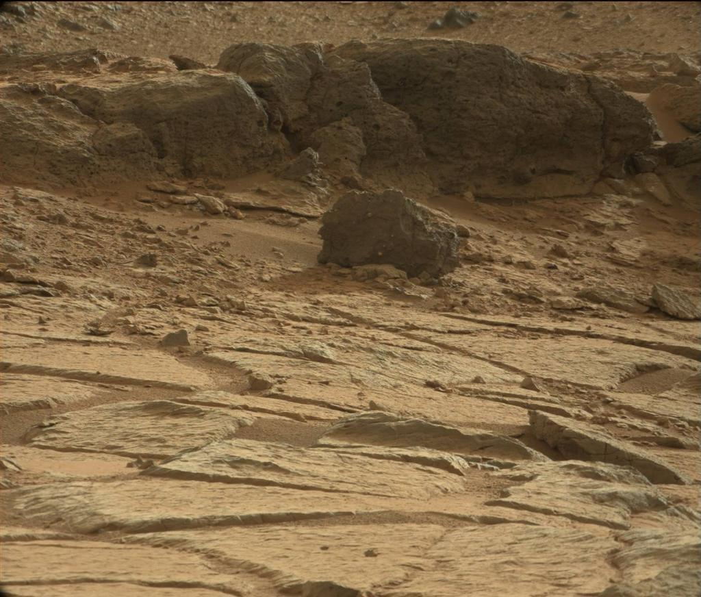'Point Lake' Outcrop in Gale Crater, Raw Color