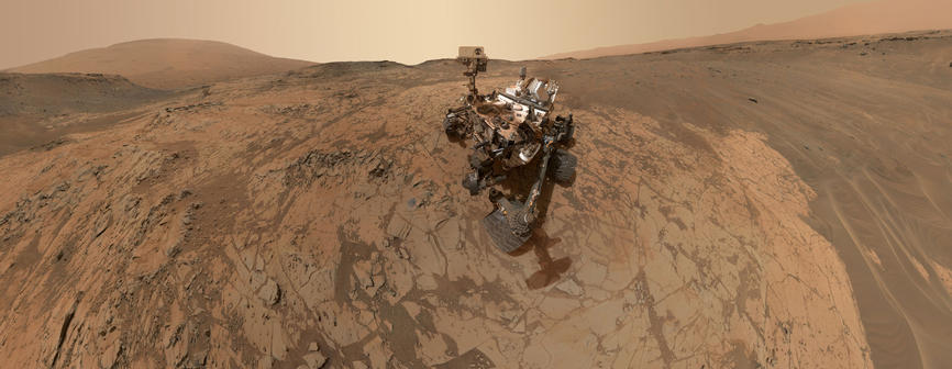 view 'Curiosity Self-Portrait at 'Mojave' on Mount Sharp'