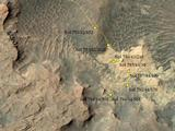 Curiosity Rover's Location for Sol 794