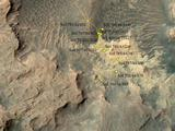 Curiosity Rover's Location for Sol 807
