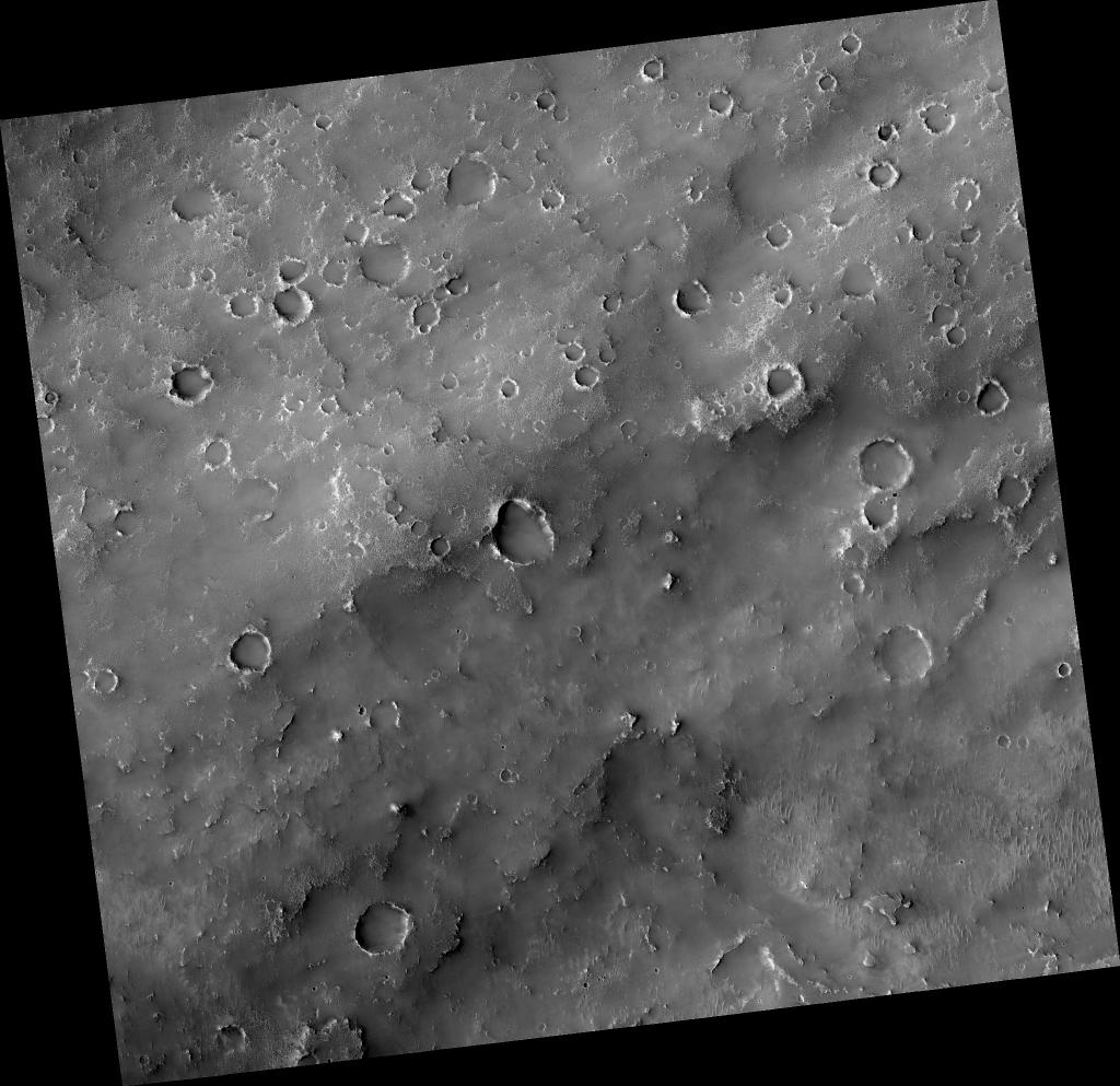 Drainage Near Crater in Terra Sabaea.