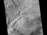 Gullies and Flow Features along Crater Wall in Promethei Terra