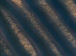 Dune Symmetry Inside Martian Crater