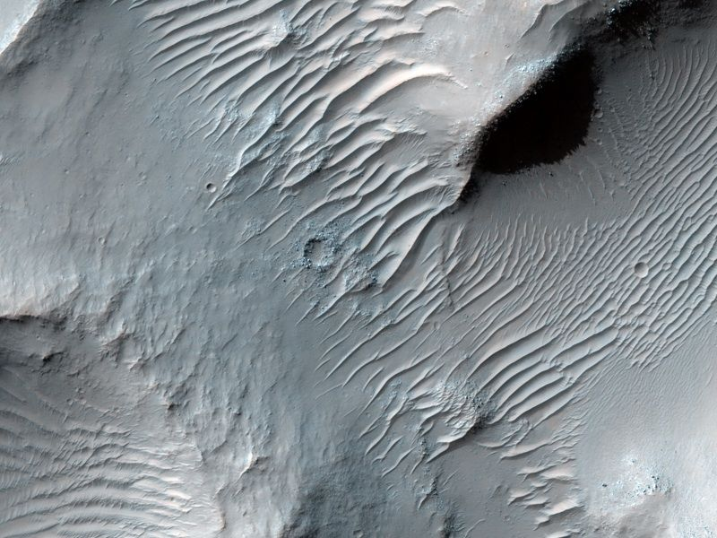 Dunes on Floor of Samara Valles, Mars