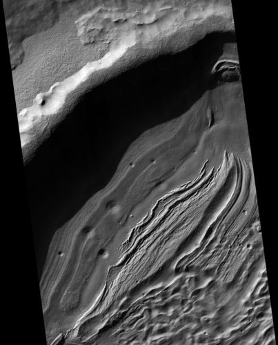 Intra-Crater Structure in NW Hellas Basin, Mars
