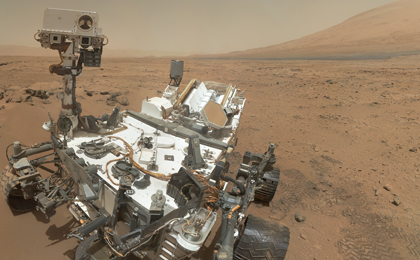 see the image 'Curiosity's 'Rocknest' Workplace (Unannotated)'
