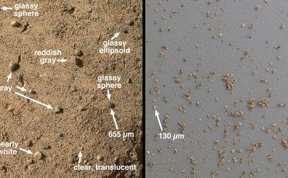 see the image 'Windblown Sand from the 'Rocknest' Drift'