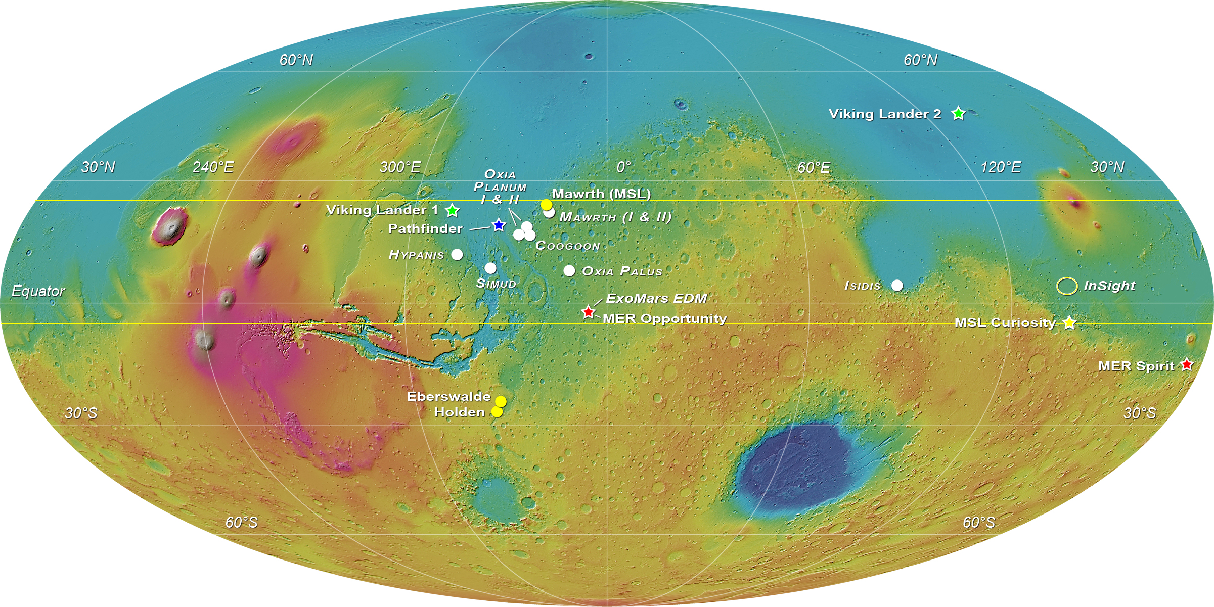 mars rover landing map - photo #17