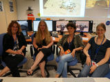 Women from French Instrument Mars Operation Centre for MSL (FIMOC) in Toulouse, France on Women's Curiosity Day