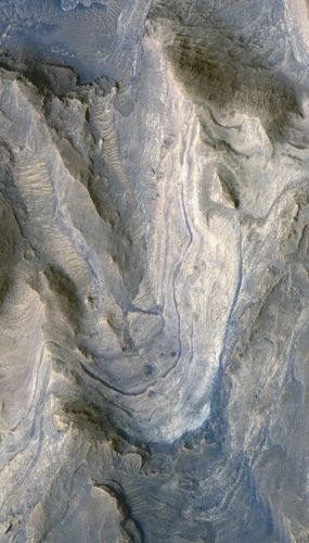 Layers in Lower Formation of Gale Crater Mound