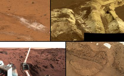 see the image 'A Sampling of Martian Soils'