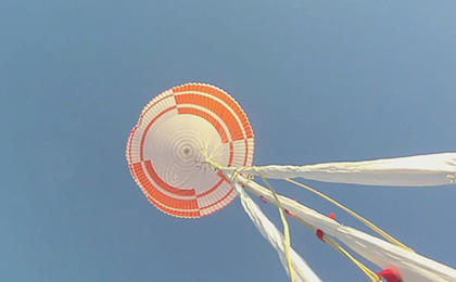 NASA tests a supersonic parachute under Mars-like conditions for future exploration.
