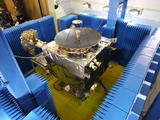 The MAVEN spacecraft is shown here in testing for Electromagnetic Interference and Electromagnetic Compatibility.