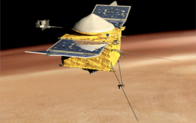Artist's Concept of MAVEN side view