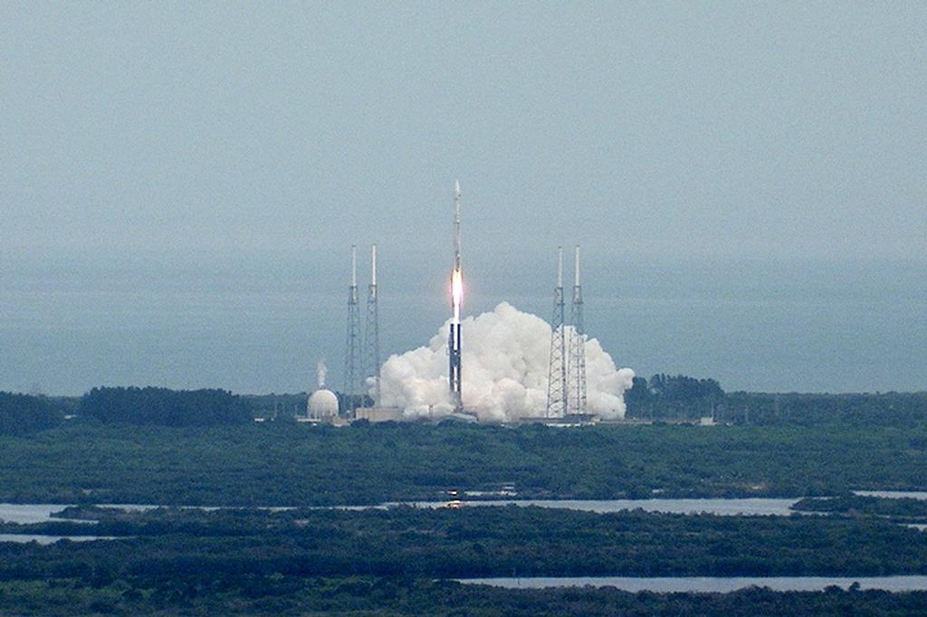 The United Launch Alliance Atlas V rocket lifts off from Space Launch Complex-41 at Cape Canaveral Air Force Station carrying the Mars Atmosphere and Volatile Evolution, or MAVEN, spacecraft on a 10-month journey to the Red Planet. Liftoff was at 1:28 p.m. EST.
