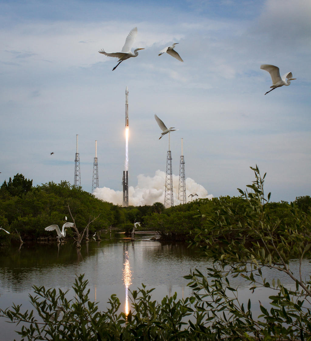 The United Launch Alliance Atlas V rocket with NASA's Mars Atmosphere and Volatile EvolutioN (MAVEN) spacecraft launches from the Cape Canaveral Air Force Station Space Launch Complex 41, Monday, Nov. 18, 2013, Cape Canaveral, Florida.