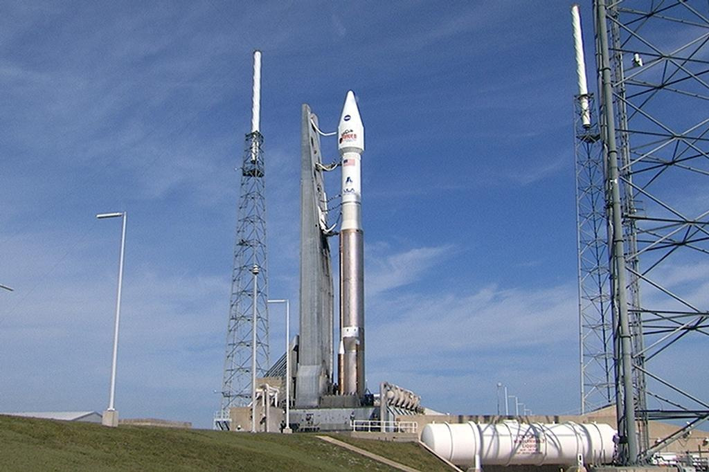 The countdown is underway at Cape Canaveral Air Force Station's Space Launch Complex 41 where a United Launch Alliance Atlas V rocket stands ready to boost the Mars Atmosphere and Volatile Evolution, or MAVEN, spacecraft on a 10-month journey to the Red Planet.