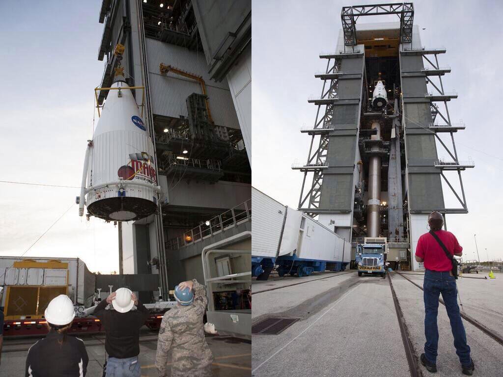 MAVEN positioned atop Atlas V rocket.