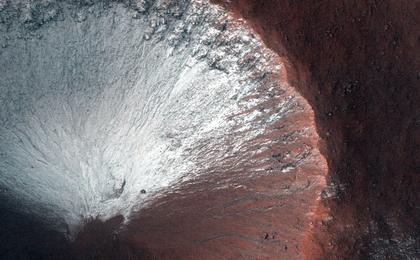 read the article 'Frost on Crater Slope'