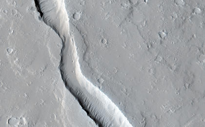 read the article 'Lava Flow Near the Base of Olympus Mons'
