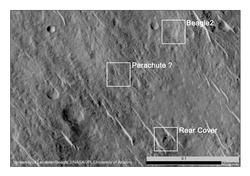 Components of Beagle 2 Flight System on Mars
