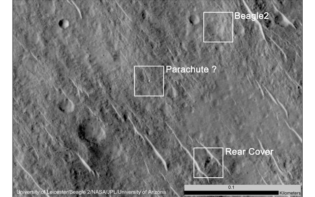 read the article ''Lost' 2003 Mars Lander Found by Mars Reconnaissance Orbiter'