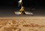 see the image 'The Mars Reconnaissance Orbiter over the martian landscape'