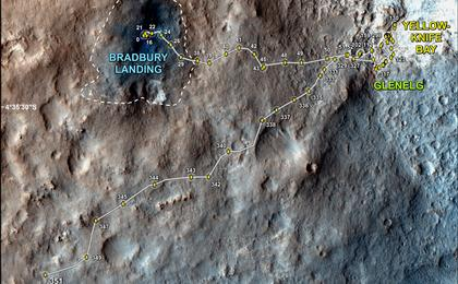 see the image 'Full Curiosity Traverse Passes One-Mile Mark'