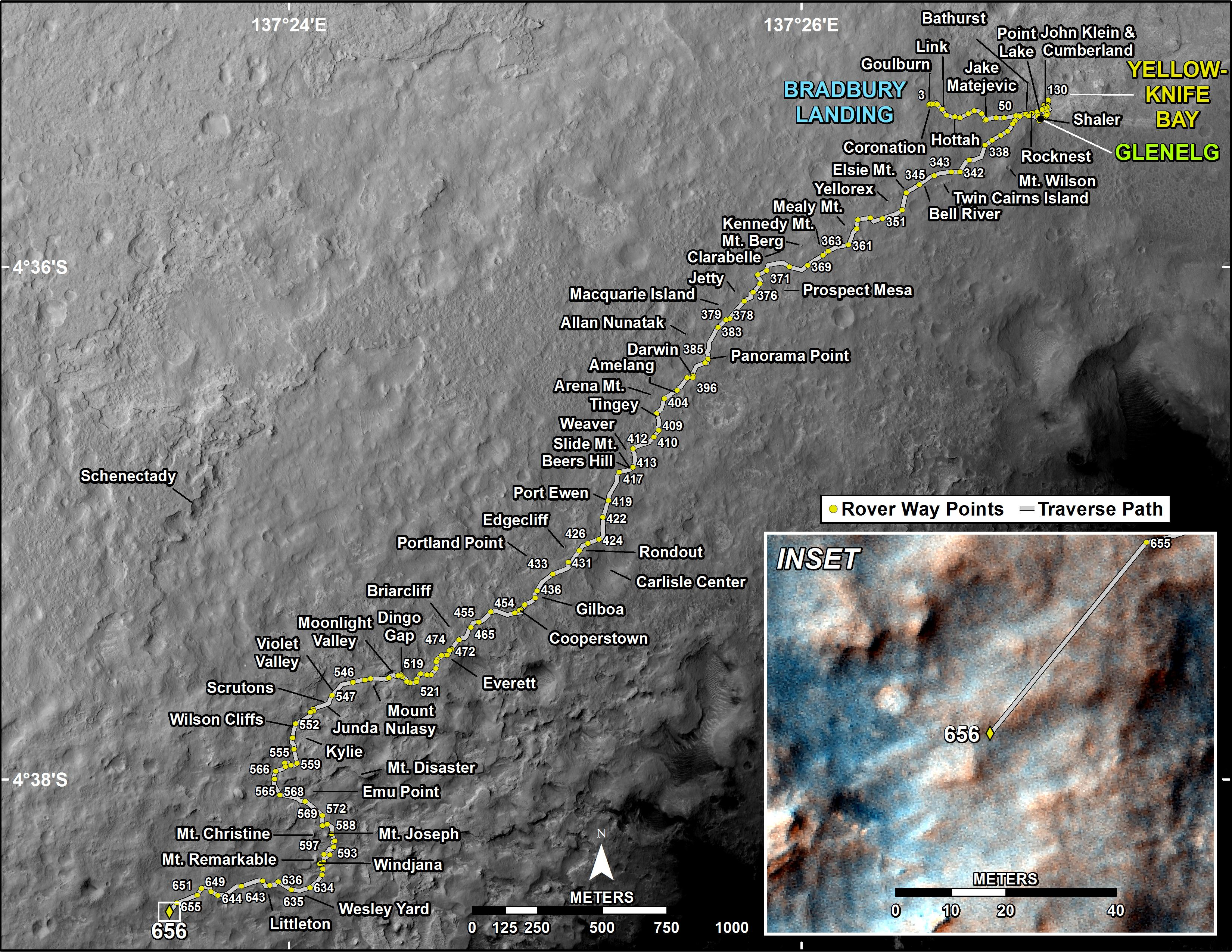 mars rover landing map - photo #5