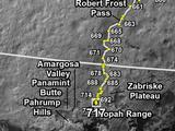 Curiosity's Traverse Map Through Sol 717