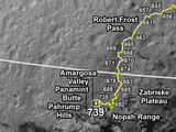 Curiosity's Traverse Map Through Sol 739