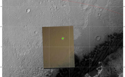 see the image 'Nailing Down Curiosity's Landing Site'