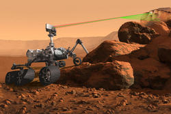An artist's rendering of the SuperCam instrument aboard the next generation Mars rover scheduled to visit the Red Planet in 2020.