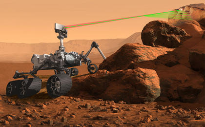 see the image 'Artist's Concept of the SuperCam Instrument for Mars 2020 Rover'