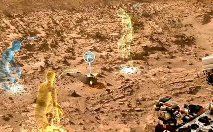 see the image 'OnSight Tool Allows Scientists to Meet in 3D Mars Simulation'