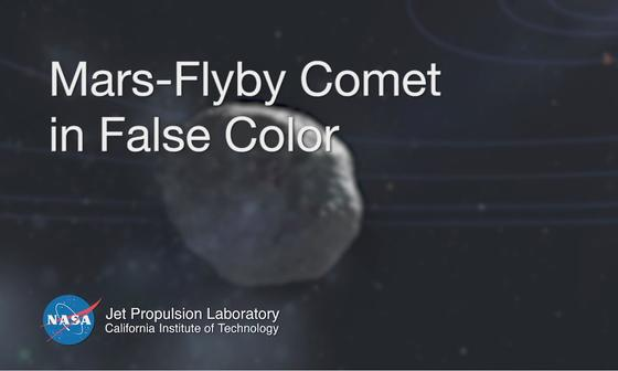 read the article 'Mars-Flyby Comet in False Color from MRO'