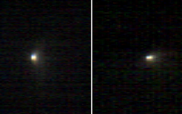 Mars-Orbiting Spectrometer's Images Show Comet's Coma