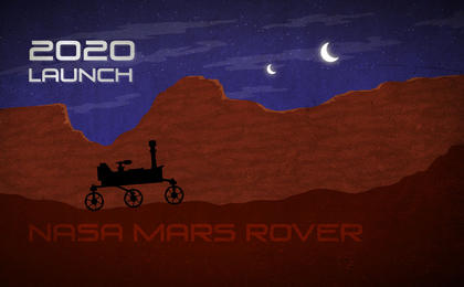 see the image 'Mars Rover Artist's Concept'