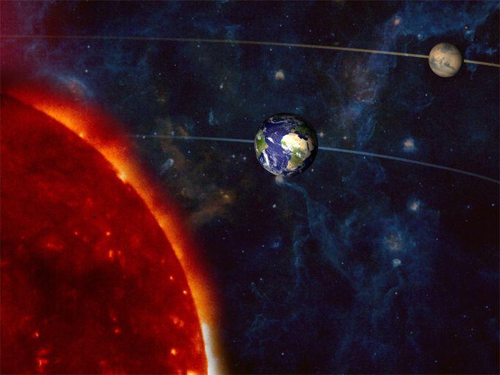 Ilustrasi oposisi Mars.