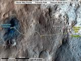 Curiosity Rover's Traverse, August through November 2012