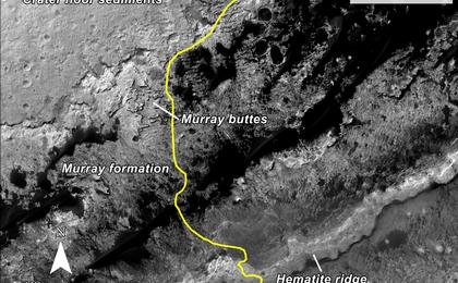 read the article 'Curiosity Rover Planned Route'