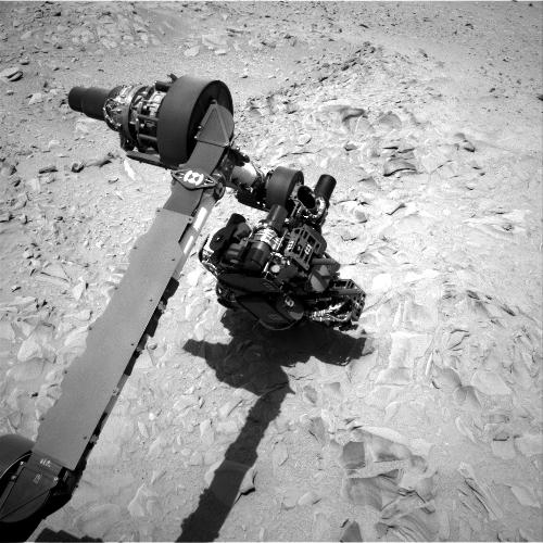This image was taken by Navcam: Left A (NAV_LEFT_A) onboard NASA's Mars rover Curiosity on Sol 54.
