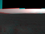 This 3-D image from NASA's Curiosity was taken from the rover's Bradbury Landing site inside Gale Crater, Mars, using the left and right eyes of its Navigation camera.