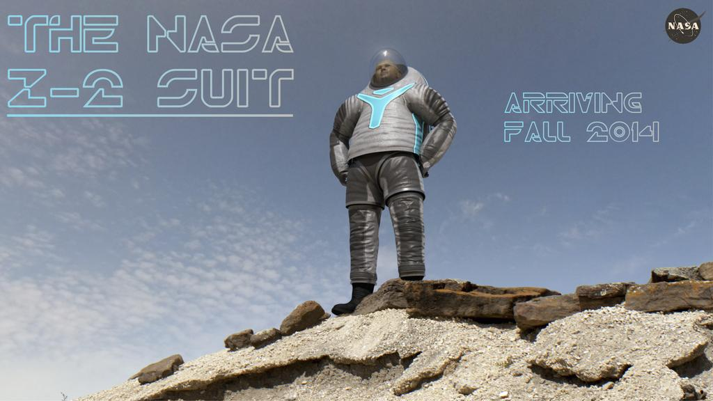 An artist's concept of a new spacesuit that may one day be used by the first astronauts to step foot on Mars.