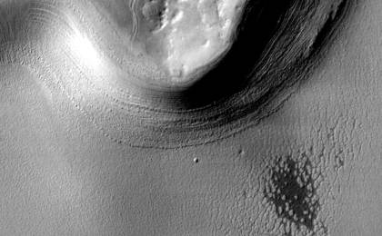 read the article 'Mars south polar layered deposits - December 8, 2003'