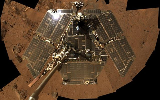 Rover Selfie of Solar Panels