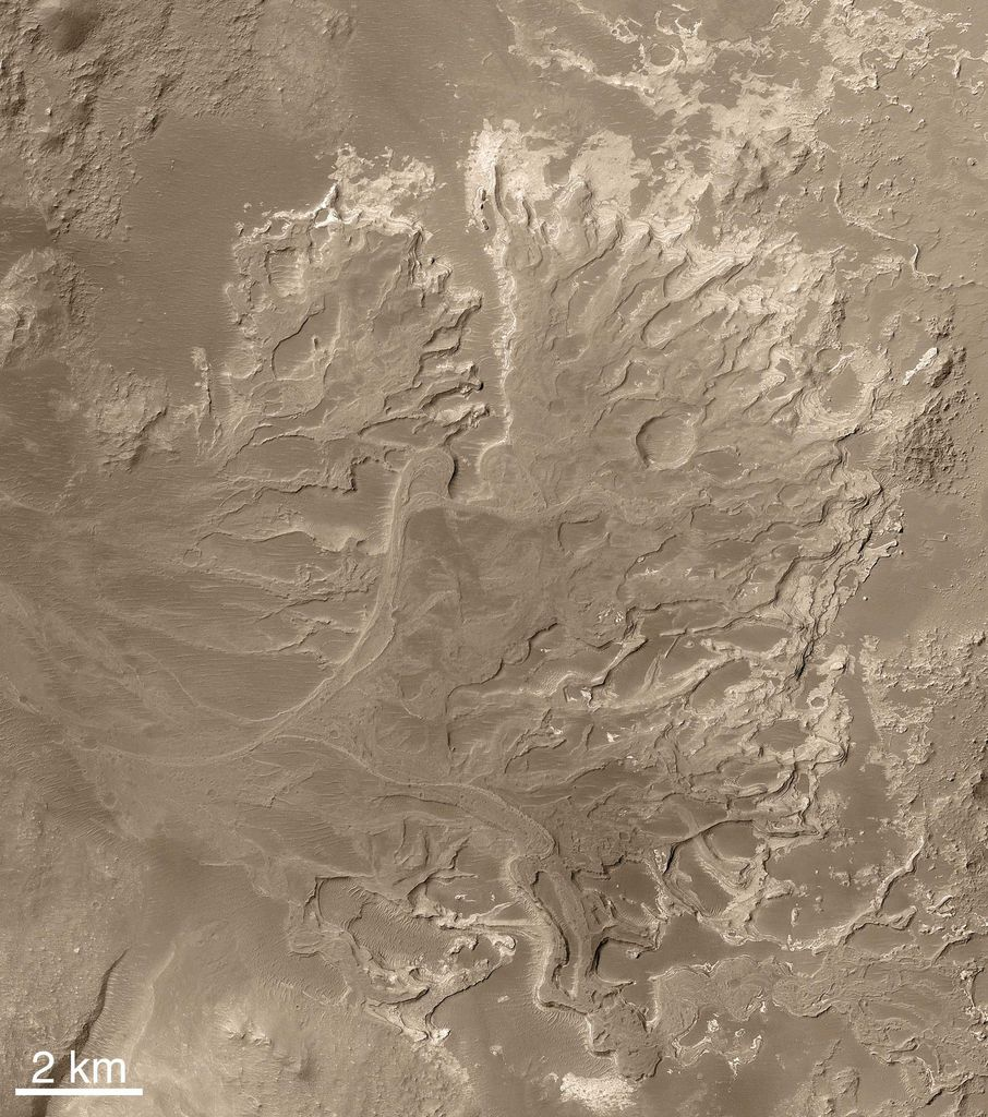 Scientifically, perhaps the most important result from use of the Mars Orbiter Camera on NASA's Mars Global Surveyor during that spacecraft's extended mission has been the discovery and documentation of a fossil delta.