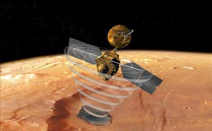 View image for Mars Reconnaissance Orbiter's Radar, Top View (Artist's Concept)