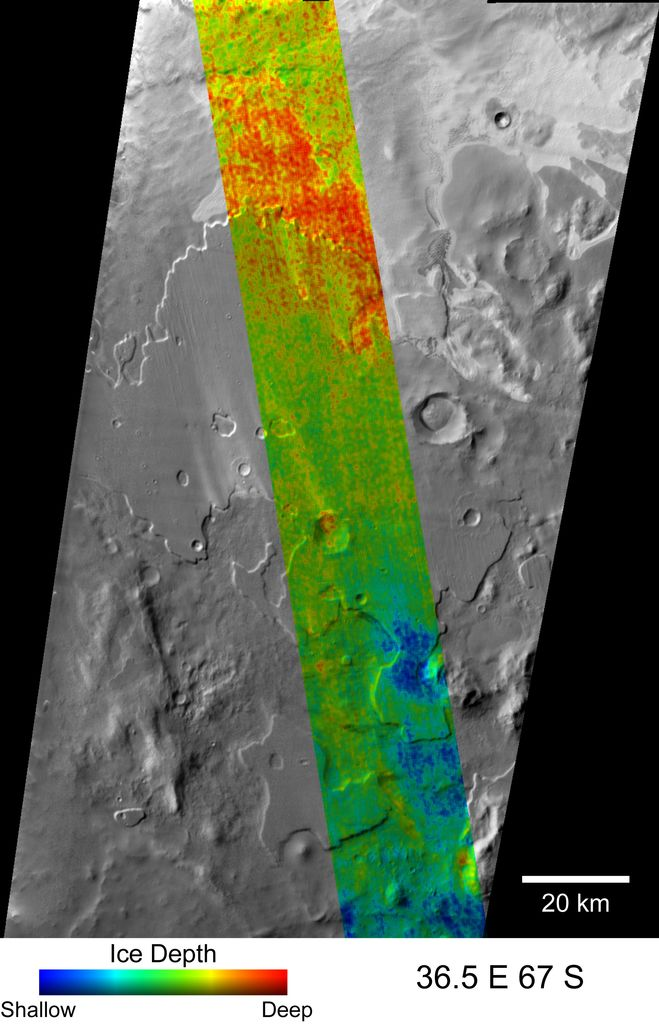 Depth-to-Ice Map of a Southern Mars Site Near Melea Planum